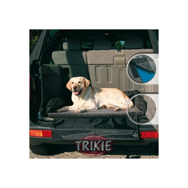 Trixie cama coche nylon/forro 95/75 cm negro/gris