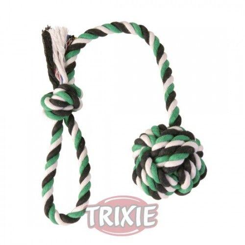 Trixie cuerda de juego con bola 5,5 diametro, 30 cm