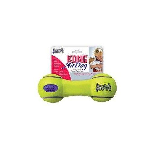 Kong airdog squeaker dumbbell tennisbold med