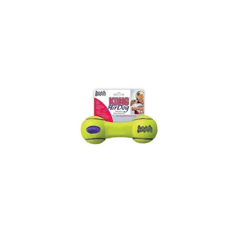 Kong airdog squeaker dumbbell tennisbold pequeño