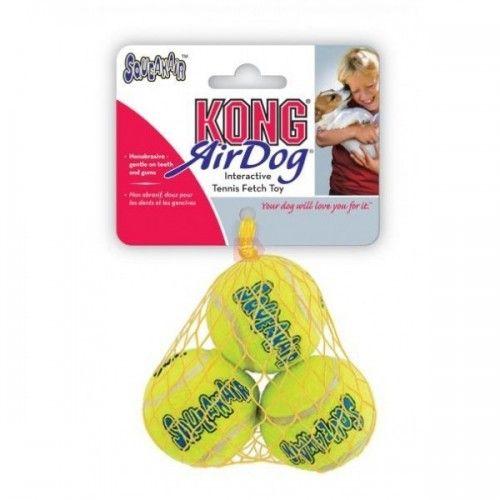 Kong airdog squeaker pelota tenis 3 uds, S