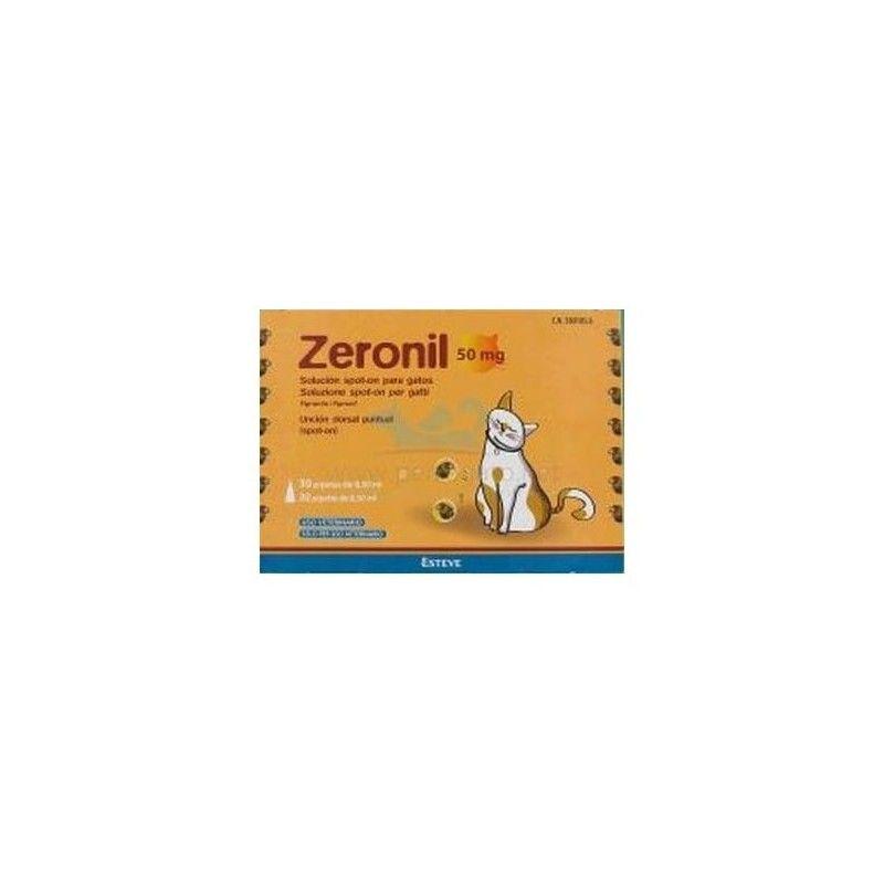 Ecuphar Zeronil gato pipetas antiparasitarias 3 pipetas