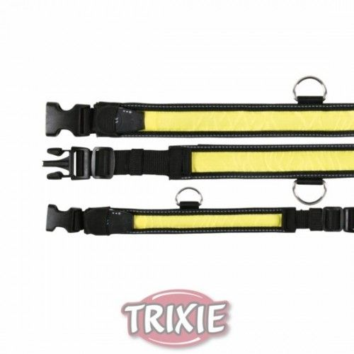 Trixie Collar Flash, L-XL, 55-70cm/35mm, Negro/Amarillo