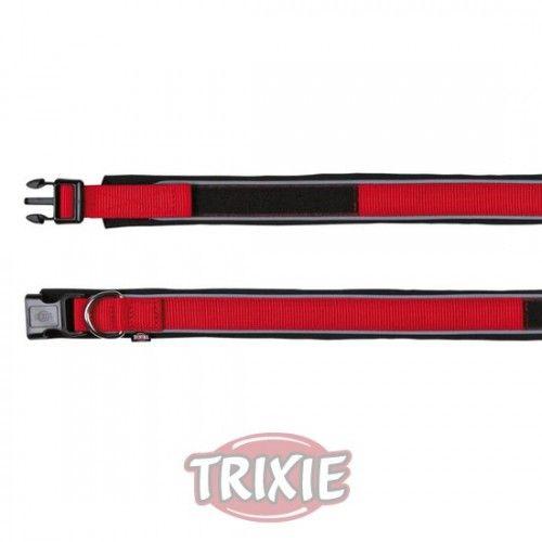 Trixie Collar Premium con Neopreno, M, 35-40cm/30mm, Rojo