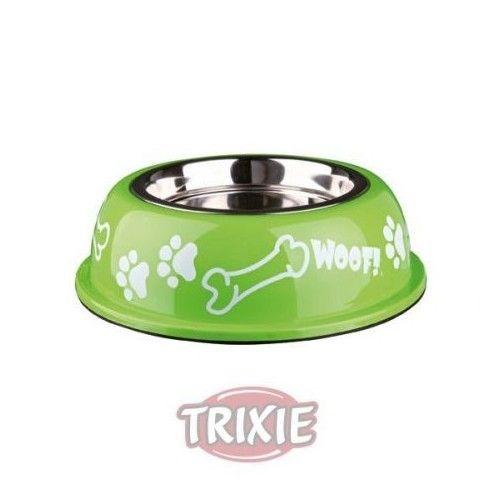Trixie Comedero Inox-Plast.Antides,0.9 l,ø16cm