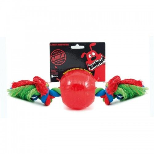 Radical Rojo Bola con Cuerda Talla L 10 Cm