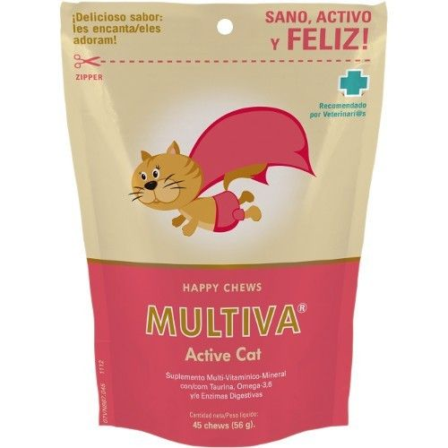Multiva active gatos 45 chews
