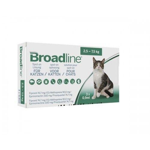Broadline Gatos Menos 2,5 kg 3 pipetas