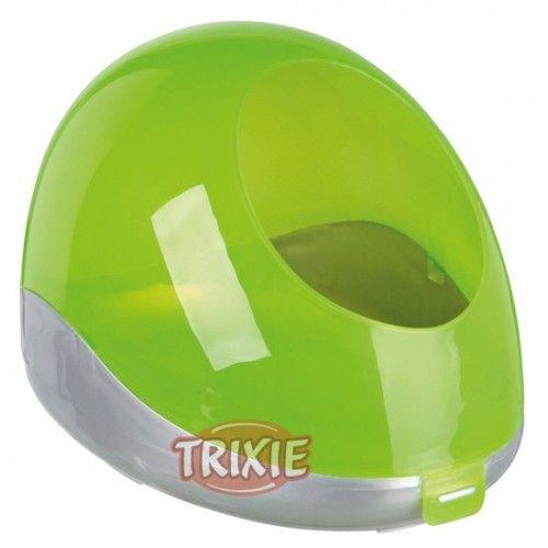 Trixie Bañera arena, Chinchillas, 27×18×16cm, Plata/Verde