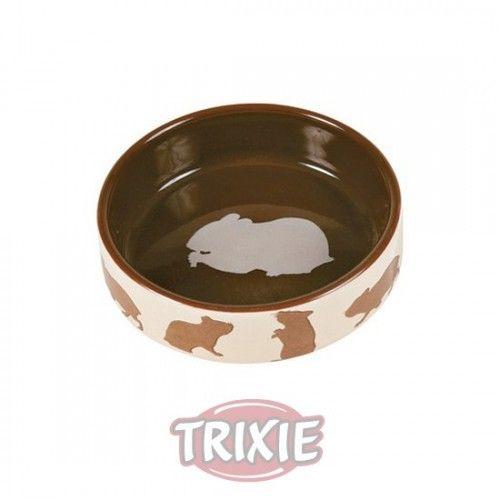 Trixie Comedero Cerám. Motivos, Cobayas, 250 ml, ø11 cm