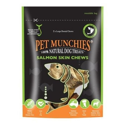 Pet Munchies Salmon Skin Chews Grande
