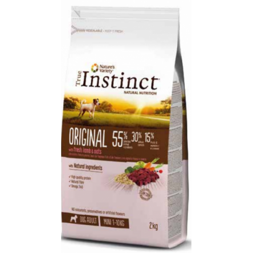 True Instinct pienso para perros adultos Original Mini con cordero