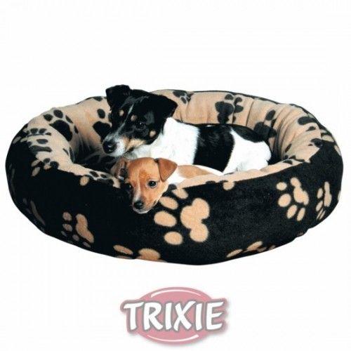 Trixie Cama Sammy, 70 cm, Negro/Beige con huellas