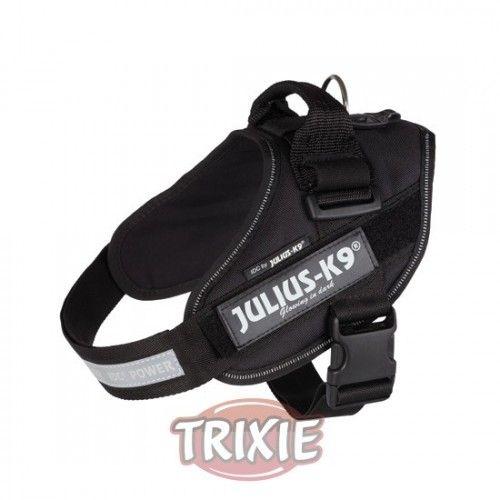 Trixie Arnés Julius-K9 IDC, 0/M–L: 58–76cm/40 mm, Negro