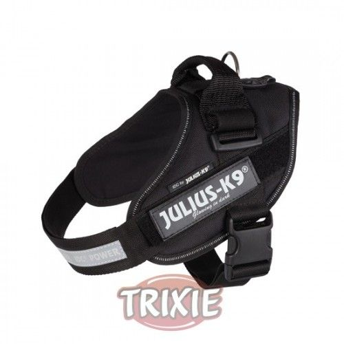 Trixie Arnés Julius-K9 IDC, 2/L–XL: 71–96cm/50 mm, Negro