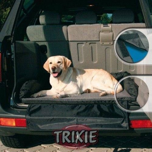 Trixie Cama para coche Nylon/forro, 95×75 cm, Negro/Gris