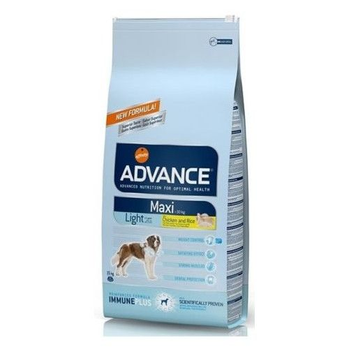 Advance adult maxi light pollo y arroz 15 Kg