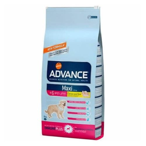 Advance adult maxi senior pollo y arroz 15 Kg