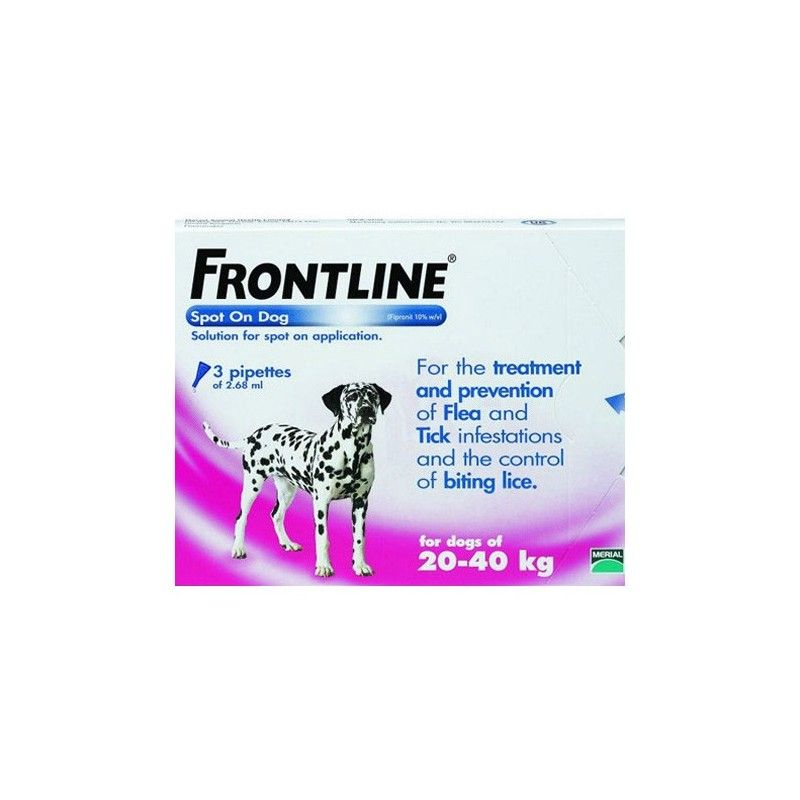 Merial Frontline spot on 20 a 40 kg 6 pipetas