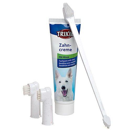Trixie set higiene dental pasta mas cepillo