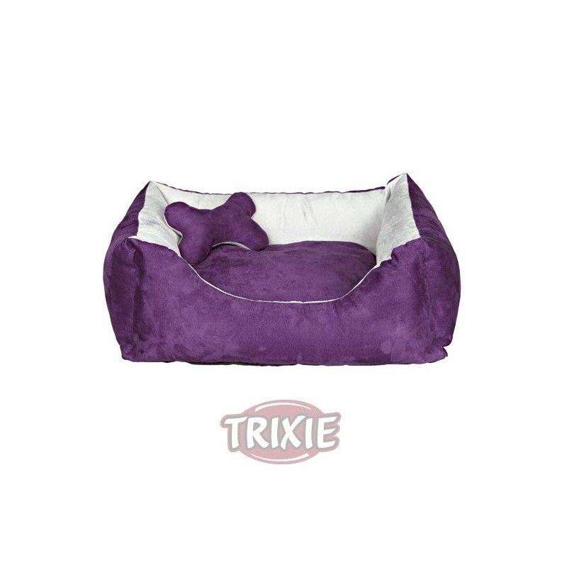 Cama chippy, 50×40 cm, púrpura/gris