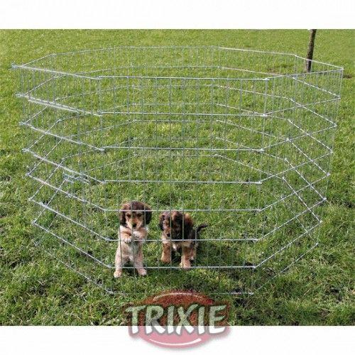 Cerramiento exterior cachorros, 8 paneles, 91 cm.