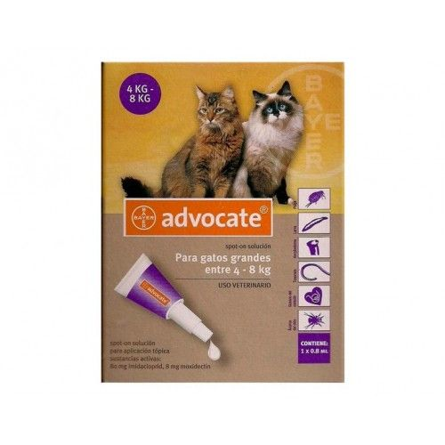 Bayer Advocate Gatos 4-8Kg 3 x 0,8 ml