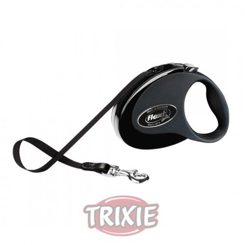 Trixie flexi COLLECTION, S, 3 m, Negro