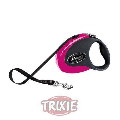 Trixie flexi COLLECTION, S, 3 m, Rosa/Negro
