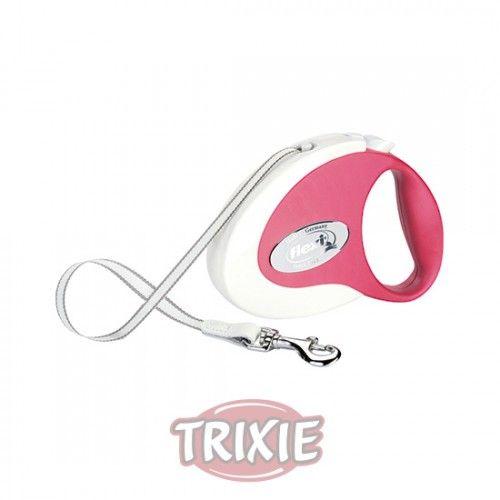 Trixie flexi COLLECTION, Cinta, S, 3 m, Blanco-Rojo