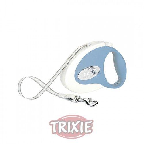 Trixie flexi COLLECTION, Cinta, S, 3 m, Blanco-Azul