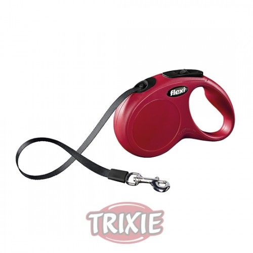 Trixie flexi New CLASSIC COMPACT, S, 5 m, Negro