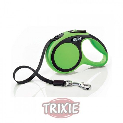 Trixie flexi New COMFORT, Cinta enrollable, XS: 3m, Verde