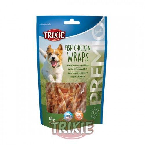 Trixie Premio Wraps Pescado y Pollo, 80 g