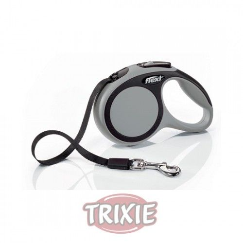 Trixie flexi New COMFORT, Cinta enrollable, XS: 3 m, Gris