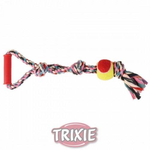 Trixie Denta Fun Trenzado, Pelota+Tirador, 50 cm, ø6 cm