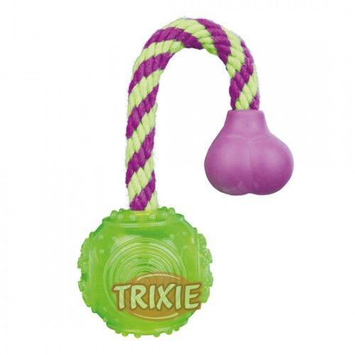 Trixie Pelota-Cuerda, Caucho Termoplást.(TPR),ø5.5cm/23cm