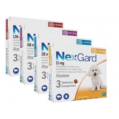 Merial Nexgard de 4-10 Kg 3 Comprimidos. Caducidad octubre 2018