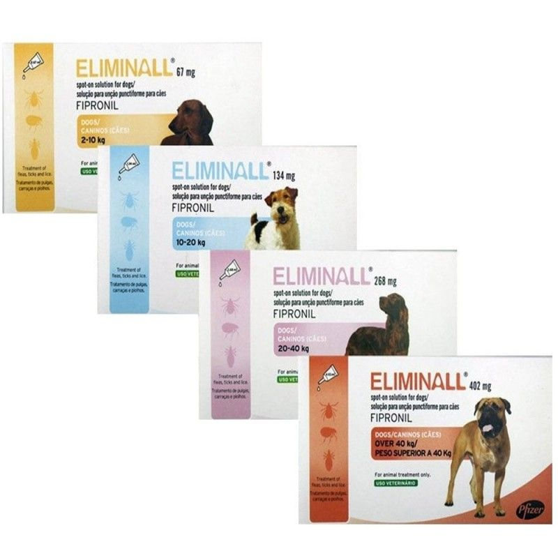 Eliminall perros 3 pipetas 2-10 Kg