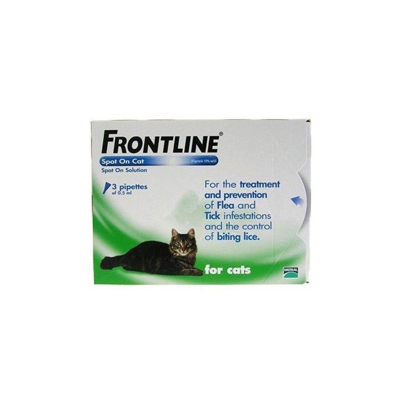 Pipetas frontline spot on para gatos 3 pipetas
