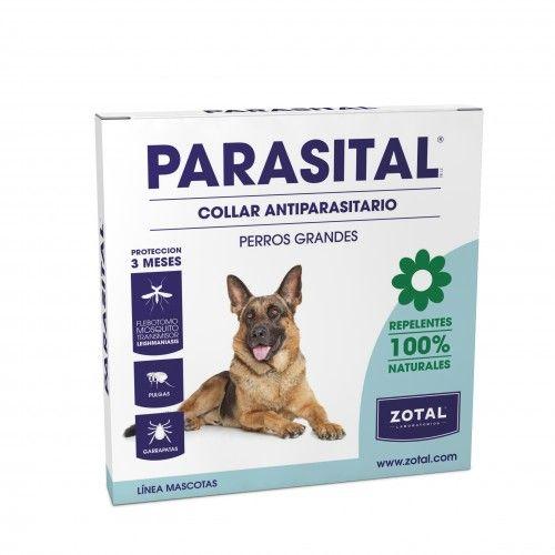 Parasital collar repelente antiparasitario 72 cm. Perro Grande