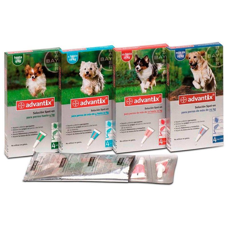 Bayer Pipetas advantix de 10 a 25 kg 6 pipetas