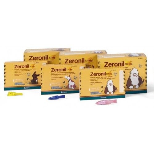 Zeronil perro pipetas antiparasitarias 3 pipetas 2-10 Kg