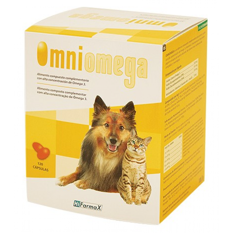 Hifarmax Omniomega complemento nutricional para perros y gatos 510 cápsulas