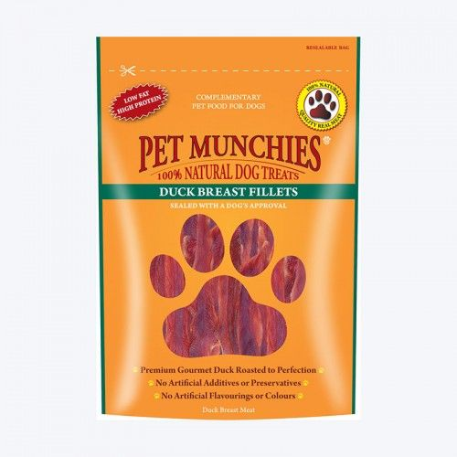 Pet Munchies Filetes Pechuga Pato