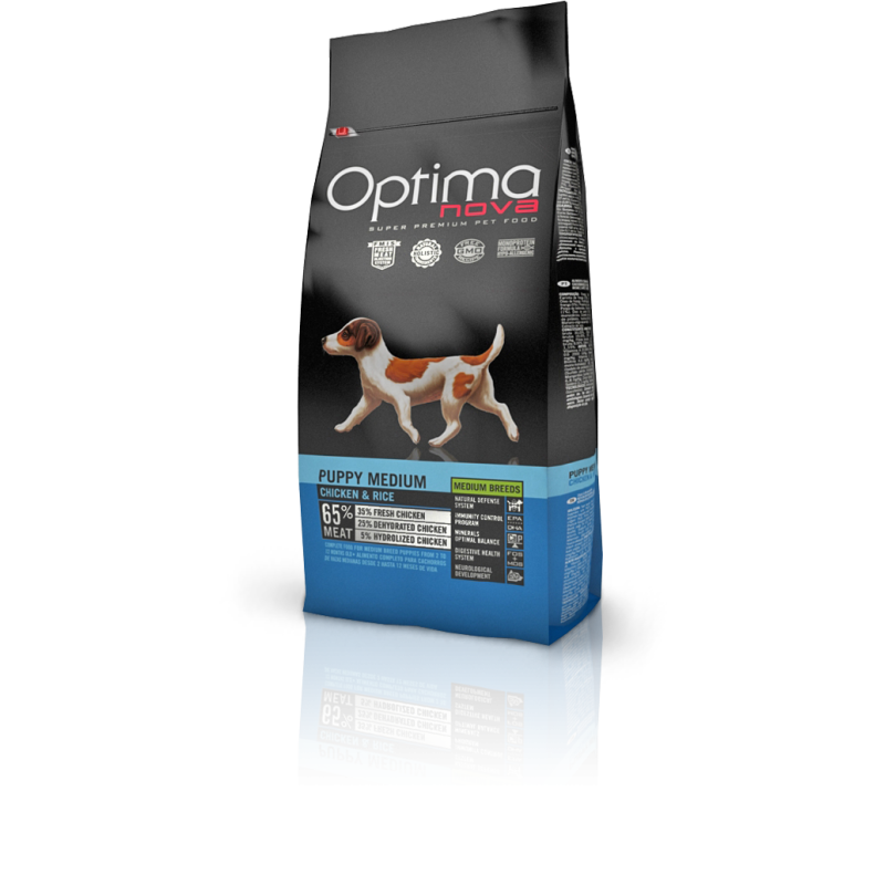 Optima nova puppy medium chicken & rice 12 Kg