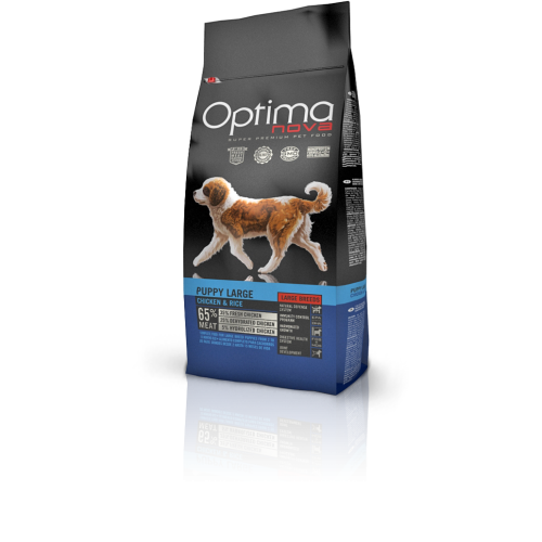 Optima nova puppy large chicken & rice 12 Kg