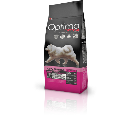Optima nova Grain Free puppy sensitive salmon & potato 12 Kg