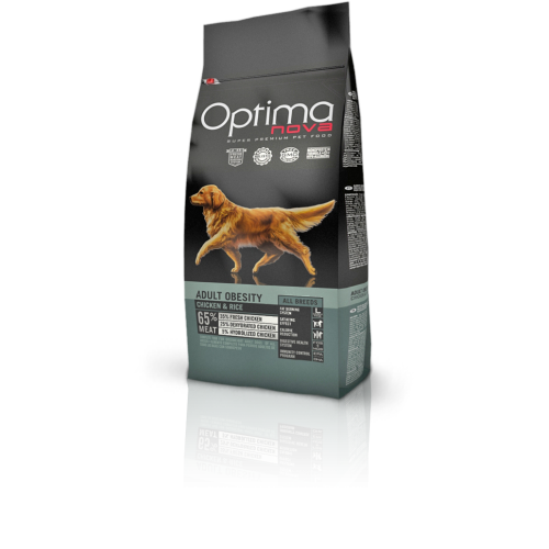 Optima nova adult obesity chicken & rice 12 Kg