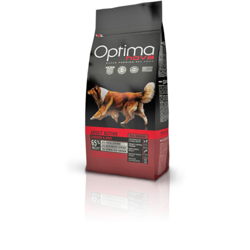 Optima nova adult active chicken & rice 12 Kg